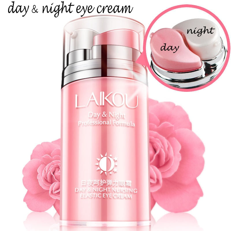 LAIKOU Brand Remove Dark Circle Whitening Day & Night Eye Cream Beauty Anti Wrinkle Ageless Anti-aging Skin Care Eye Serum