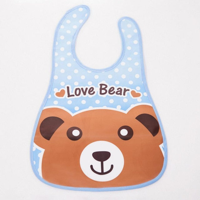 Adjustable Baby Bandana Bibs EVA Plastic Waterproof Lunch Bibs Infants Cartoon Bibs Baberos For Children Feeding Care