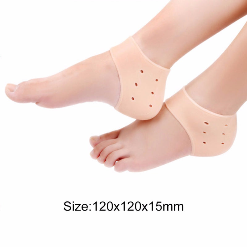 1pc Comfortable Gel Silicone Cracked Foot Heel Skin Moisturizing Socks Protector Washable Non-toxic 2017 New