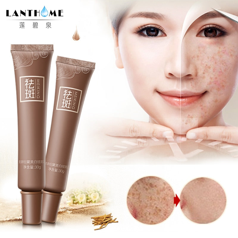 Lanthome Dark Spot Corrector Skin Whitening Fade Cream Lightening Blemish Removal Serum Reduces Age Spots Freckles Melasma Cream