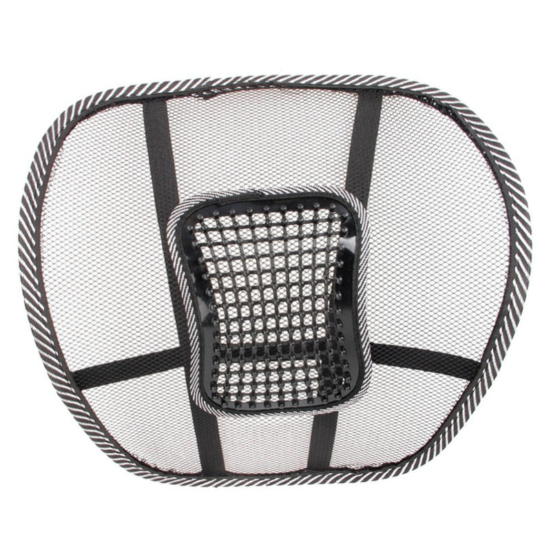 Universal Mesh Chair Relief Lumbar Back Pain Support Car Cushion Office Seat Chair Black Lumbar Cushion Auto Seat Pad Supports