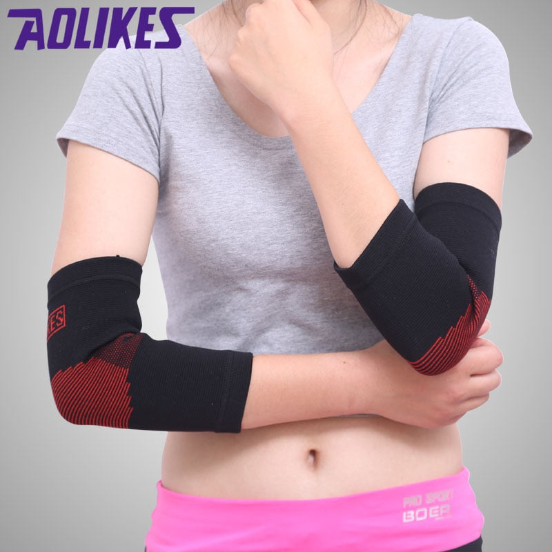 1pcs Elastic Elbow Support Nylon Tennis Basketball Arthritis Epicondylitis Pain Brace Gym Sport Elbow Protectors