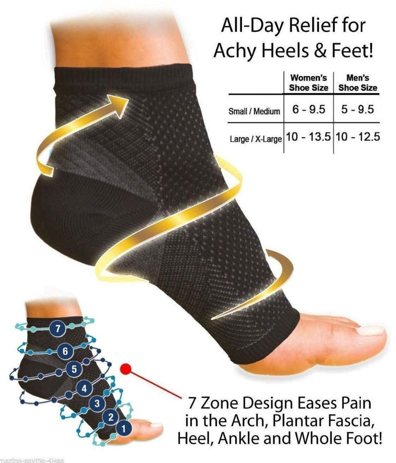 Women Ankle Heels Support Men Compression Foot Angel Sleeve Heel Arch Support Pain Relief