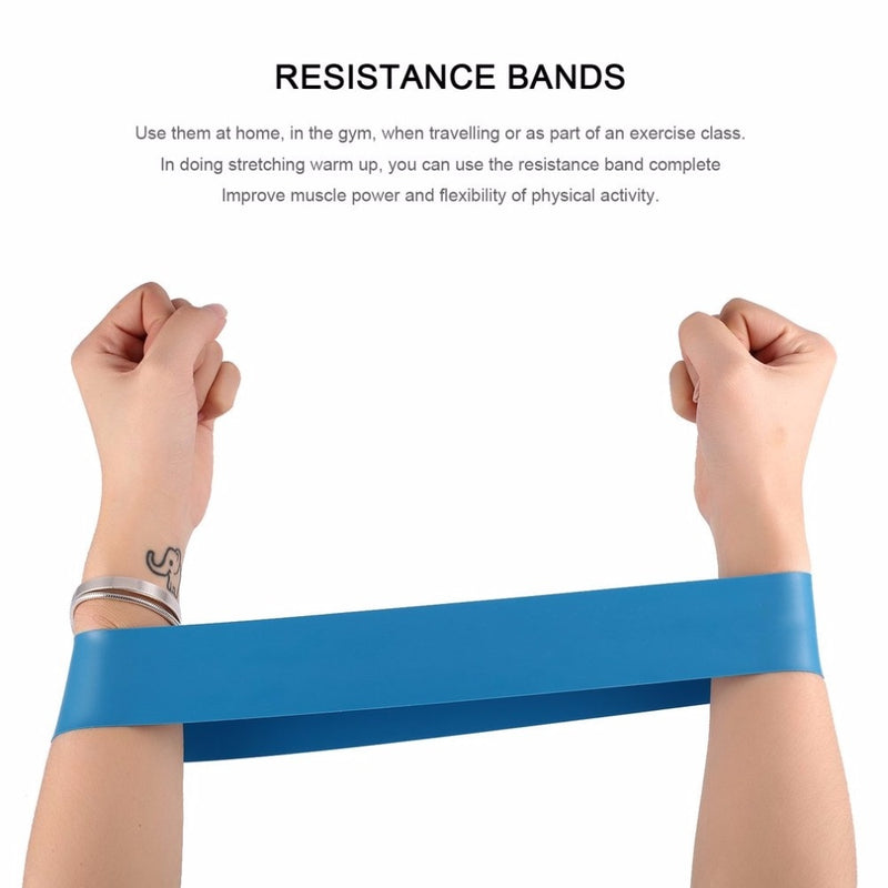 Elastic Resistance Band 3/4/5 Level Available Exercise Loop Bands Natural Latex Gym Fitness Strength Training Slimming Product
