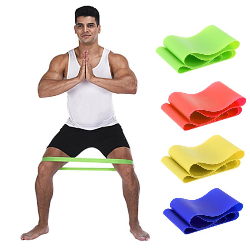 4 Levels Natural Latex Resistance Bands Fitness Exercise Equipment Body Building Latex Pull Rope Fitness Yoga Strength Band NEW