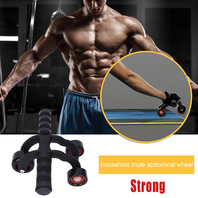 Three-wheeled Body Abdominal Muscle Exerciser Mute Rolling Wheel Household Fitness Equipment With EVA Pad for Men & Women Hot