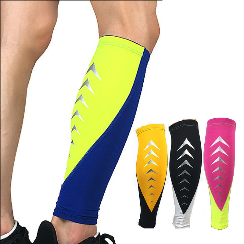 1PCS Elastic Knee calf support Football Leg Sleeve Calf Compression Sleeves Cycling socks Support Sports Climbing Running