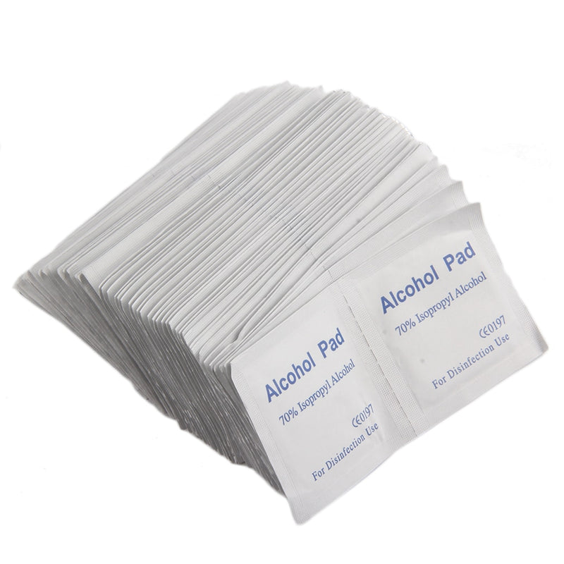 100PCS Alcohol Wipe Pad Medical Swab Sachet Antibacterial Tool Cleanser Drop Shipping