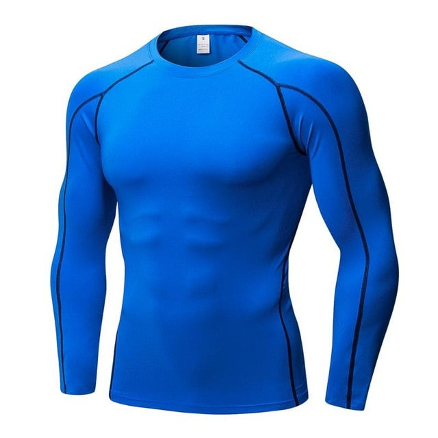 2018 Men's Quick Dry Breathable T-Shirt Fitness Hip Hop T-Shirts Men Sport Long Sleeve Gym Fitness T Shirt