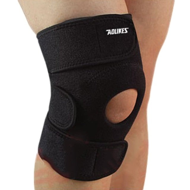 Adjustable Unisex Cap Stabilizer Sports Outdoor Sports Black Knee Patella Support Brace Sleeve Wrap Knee Protectors