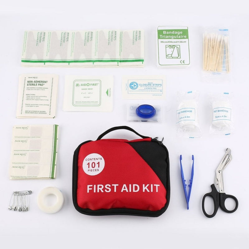 101pcs/set First Aid Kit A-Must-Have Home Emergency Treatment Pill Cases Survival Medical Rescue Pouch with Portable Bag new