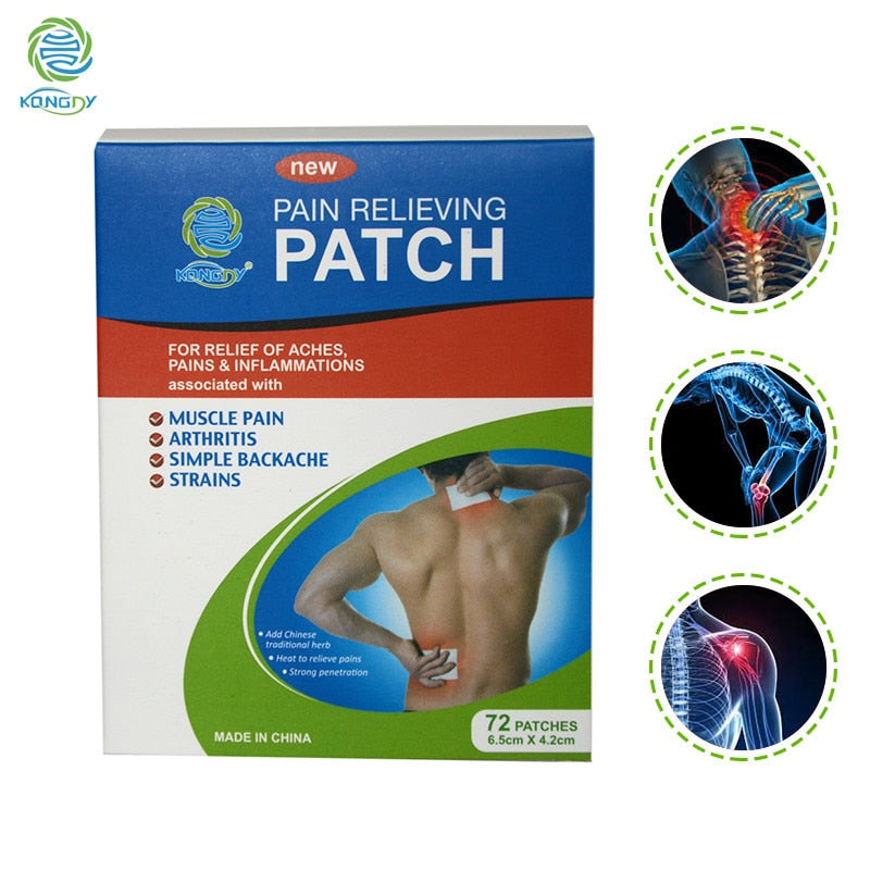 72Pcs KONGDY New Design Joint Knee Neck Pain Relief Chinese Pain Relieving Plaster Rheumatoid Arthritis Pain Patch Body Massager