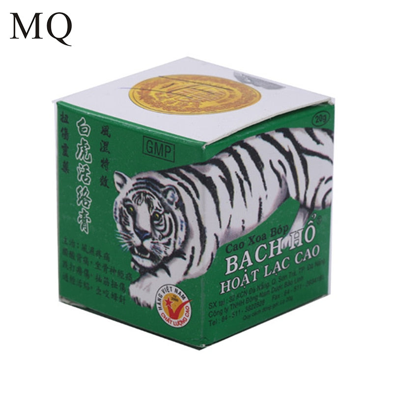 White Tiger Balm ointment for Headache Toothache Stomachache Pain Relief Balm Anti Dizziness Essential Balm Oil 20g Paste