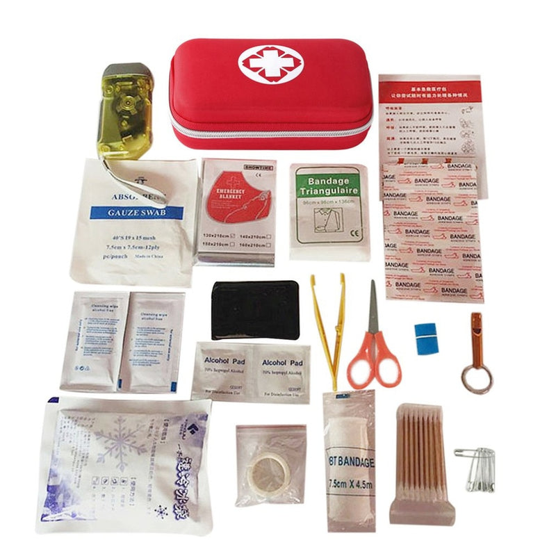 19PCS Outdoor Travel First Aid kit Car First Aid Bag Home Small Medical Box Emergency Survival Kit Size 21*13*5.5CM New Arrival