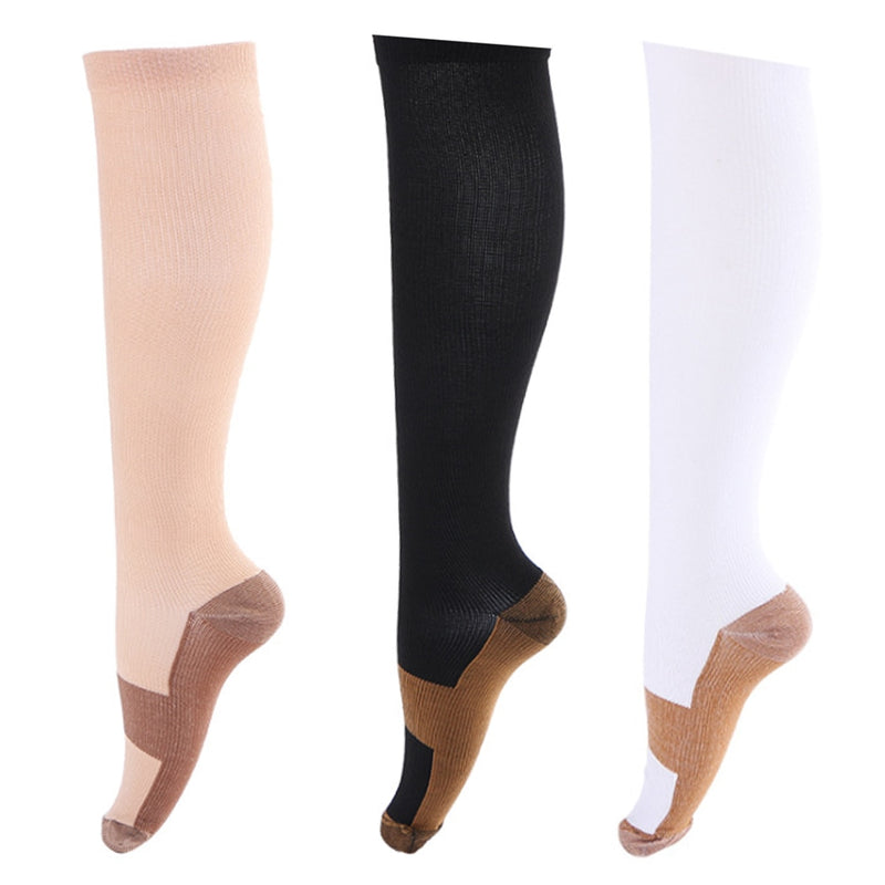 Unisex Anti-Fatigue Compression Socks Foot Anti Fatigue Soft Pain Relief Miracle Copper Magic Socks Support Knee High Sock
