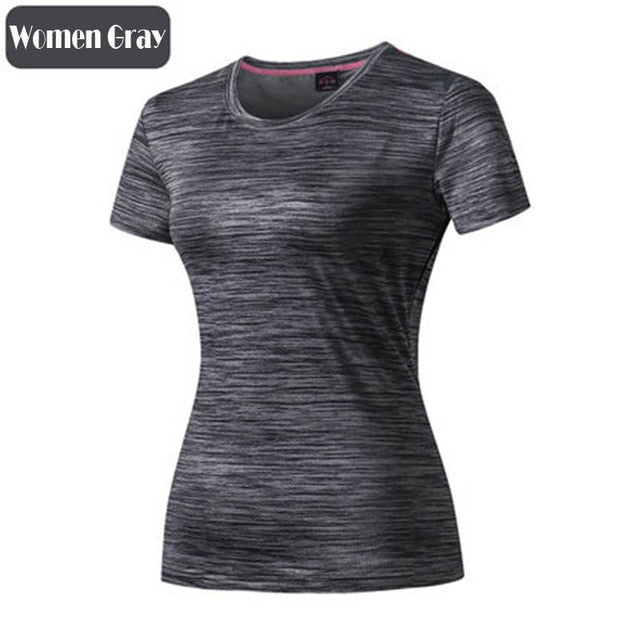 Sport Shirt Men Women Fitness Running T Shirts Breathable Quick Dry Tshirt Outdoor Unisex Gym Training Jogging Sportswear Cloth