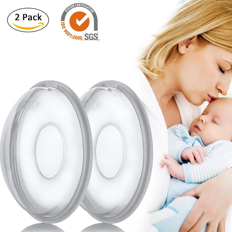 2Pcs Reusable Anti-Overfill Breast Pad Breast Correcting Shell Nursing Cup Milk Saver Protect Sore Nipples for Nursing Moms