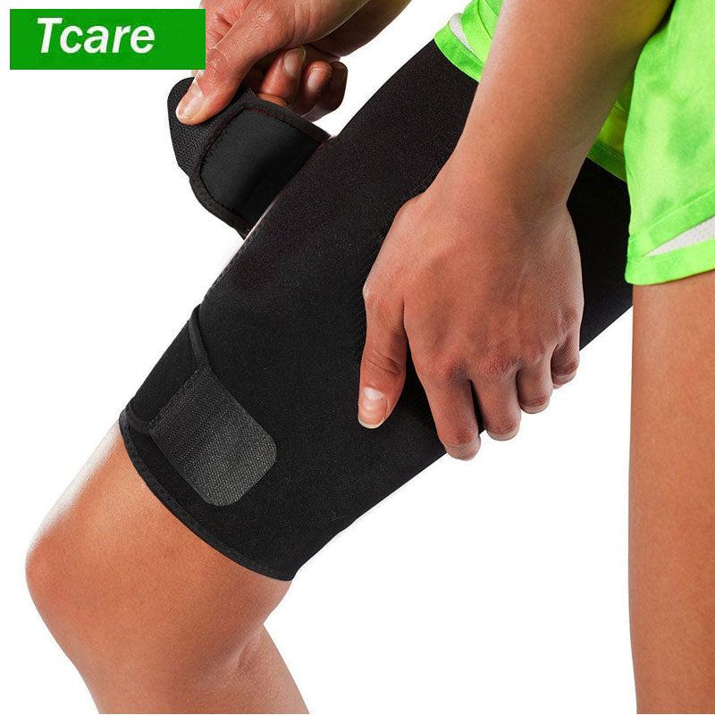 1Pcs Thigh Support Brace Adjustable Thigh Slimmer Trimmer Compression Thigh Sleeve Wrap Brace for Sore Hamstring Injury Recovery
