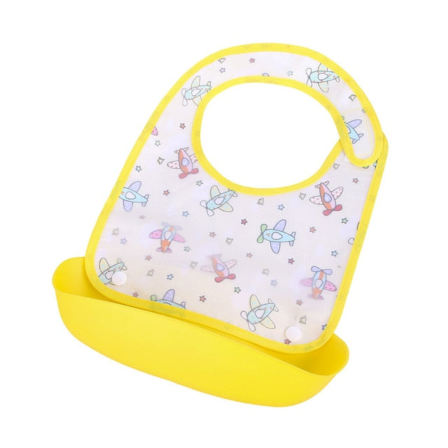 New arrivals Baby Detachable Kids Boys Girls Cartoon Waterproof  Healthcare Kits Apron Saliva Towel Smock  Kits P3#  dropship