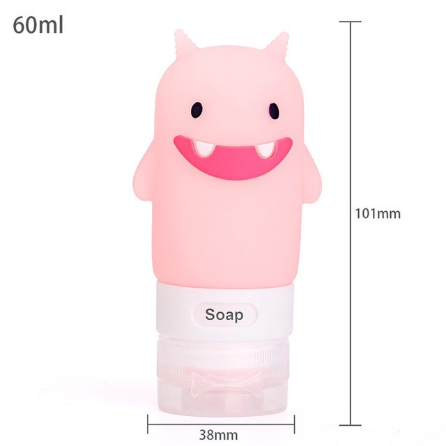Portable Cartoon Animal Bear Silicone Penguin Travel Case Storage Organizer Shampoo Shower Gel Lotion Reusable Bottle