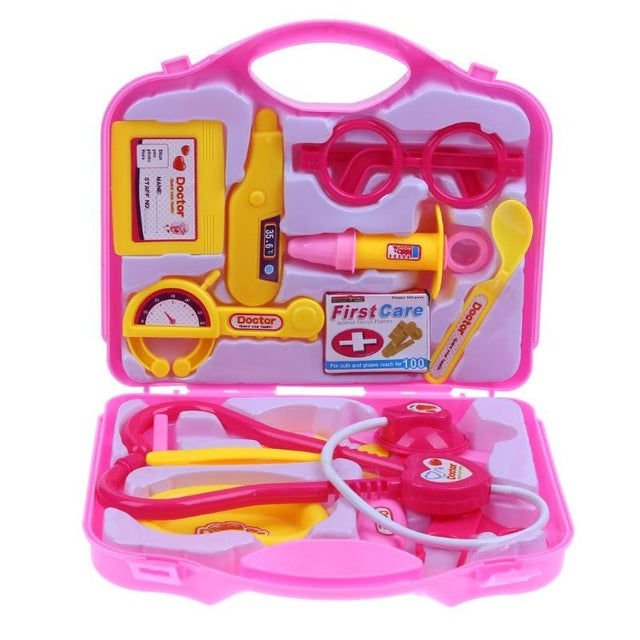 15pcs/set Children Doctor Nurse Pretend Play Toy Set Portable Suitcase Medical Tool Carrying Case Kids Educational Toy Gifts