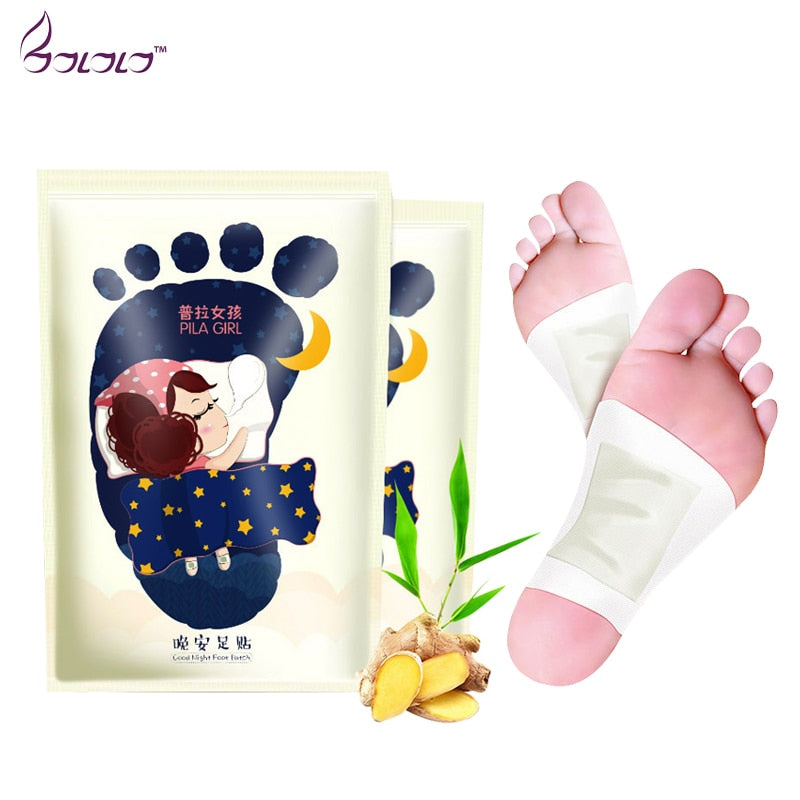 Pilaten 1pair/ 2pcs Bamboo charcoal Vinegar Peeling foot patch clearing damp sleep well and  keep in good health feet skin care