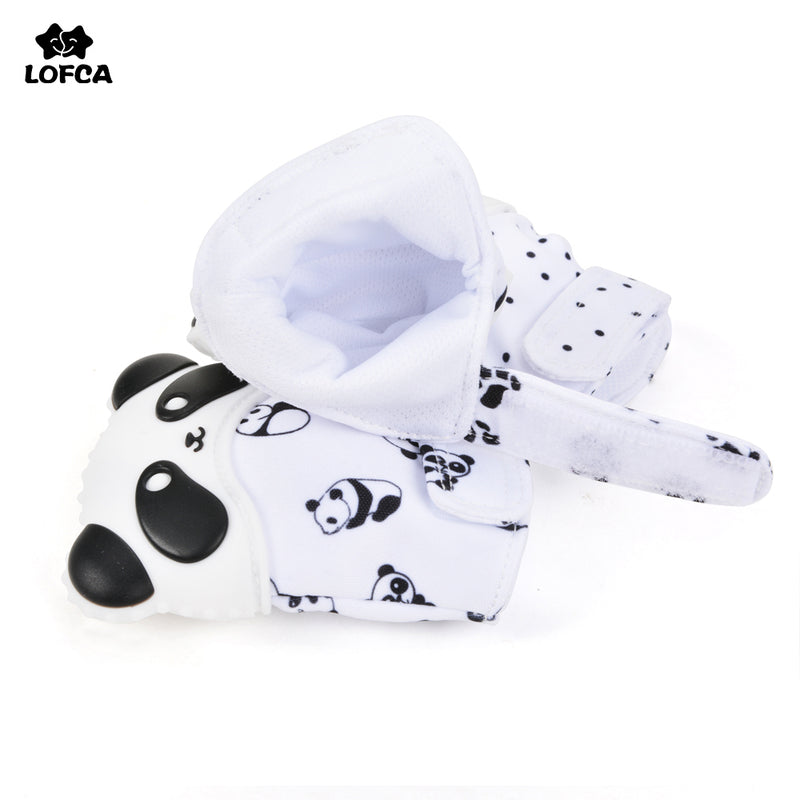 Baby Care Teething Mitten Silicone Panda Teether For Baby Newborn Glove Accessory 1PC Mitt Pain Relief Bpa Free Safe Food Grade