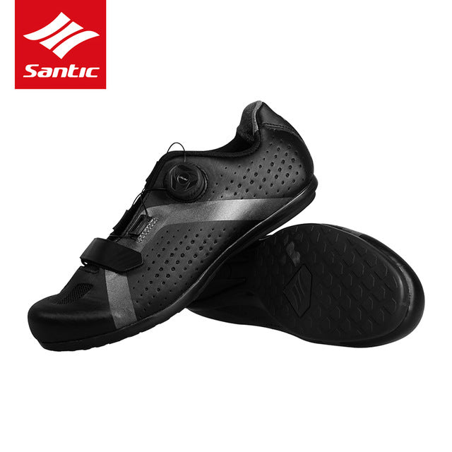 SANTIC Cycling Bike Bicycle Shoes Sneaker Breathable Outdoor Sport Professional Road Bicycle Shoes Non-Slip No-Lock Equipment