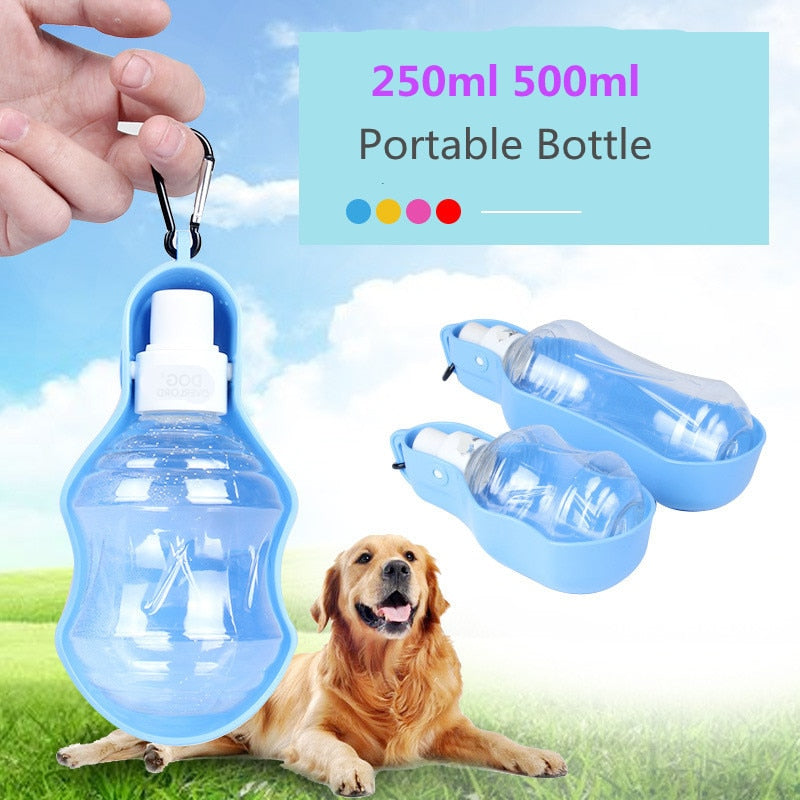 250ml 500ml Portable Pet Drinking Bottle Dog Cat Health Feeding Water Feeders Pet Travel Cups Drinking portable dog bottle
