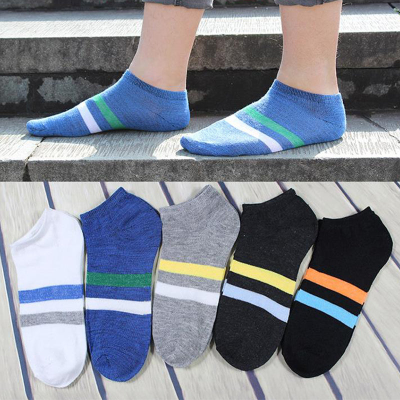 Hot 1pair Men Ankle Socks Boat Compression Socks Summer Male Short Socks Breathable Soft Cotton 5Colors to Choose