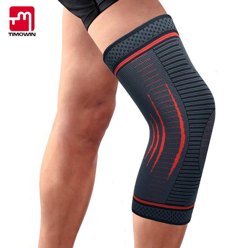 TIMOWIN 1 Piece Knee Sleeve Support Compression Knee Pads Knee Protector for Running,Jogging,Riding and Joint Pain Relief