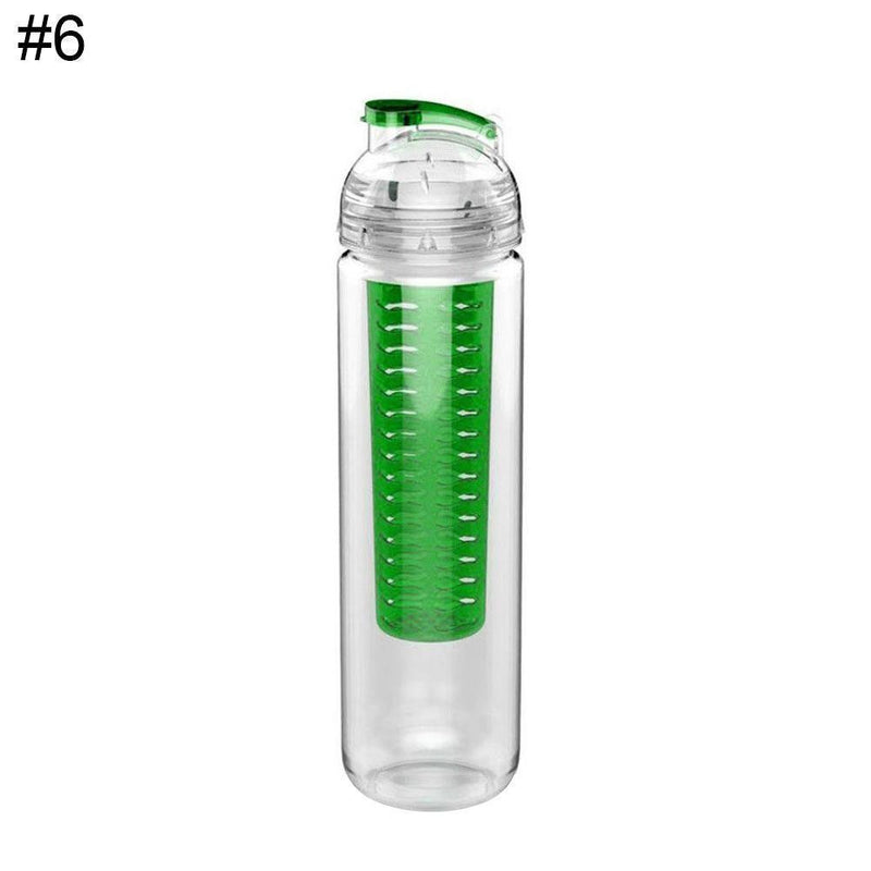 Juice Lemon Water Bottle Infuser Fruit Health 900ml Infusing Flip Sport BPA Free