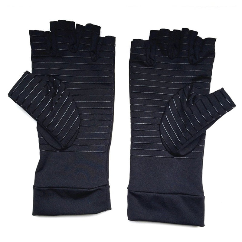 1 Pair Unisex Half-finger Gloves Promoting Blood Circulation Arthritis Joint Pain Relief Braces Health Care Training Gloves