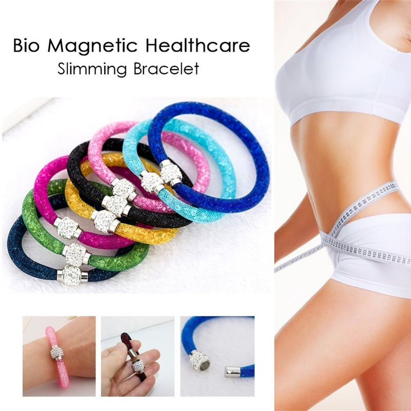 Bio Magnetic Mesh Tube Bracelets Weight Loss Bracelet Slimming Healthy Stimulating Acupoints Bracelet Magnetic Therapy #231047