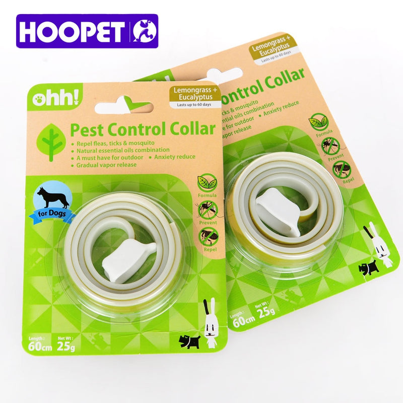 HOOPET Dog Collars With Natural Essential Oils Insecticide Deodorant Pest Lemon Odor Applicable In Large Dogs Safe Non-Toxic