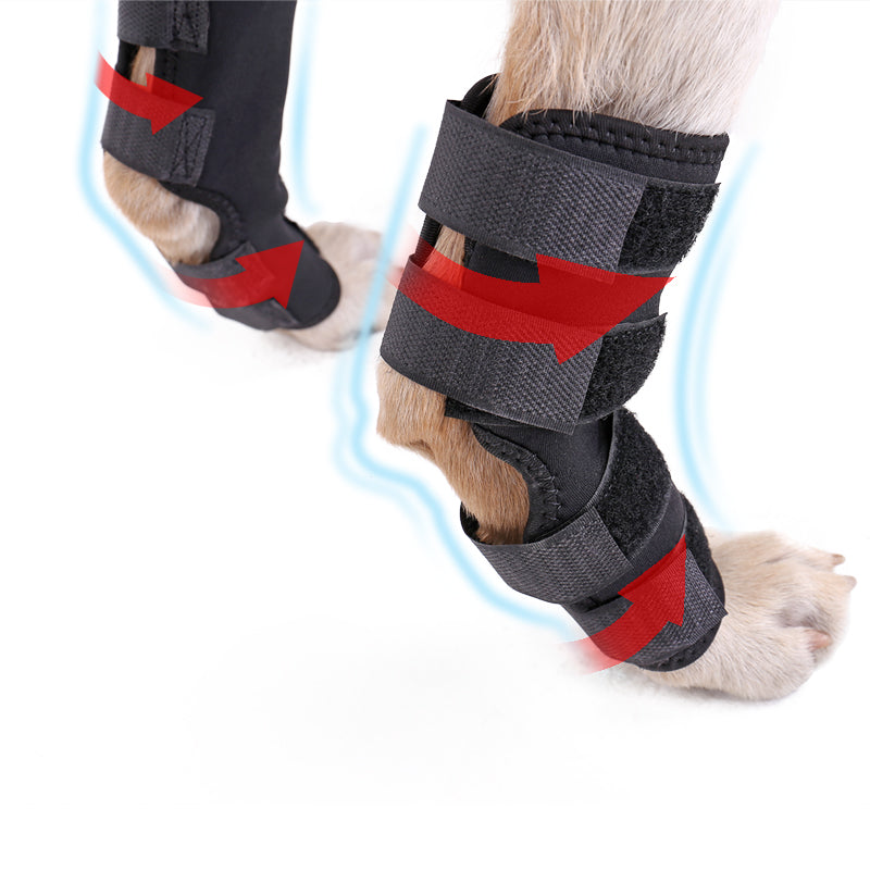 New Pet Knee Pads Dog Support Brace for Hind Leg Hock Joint Wrap ACL/CCL Breathable Injury Recover Legs Dog Protector Support