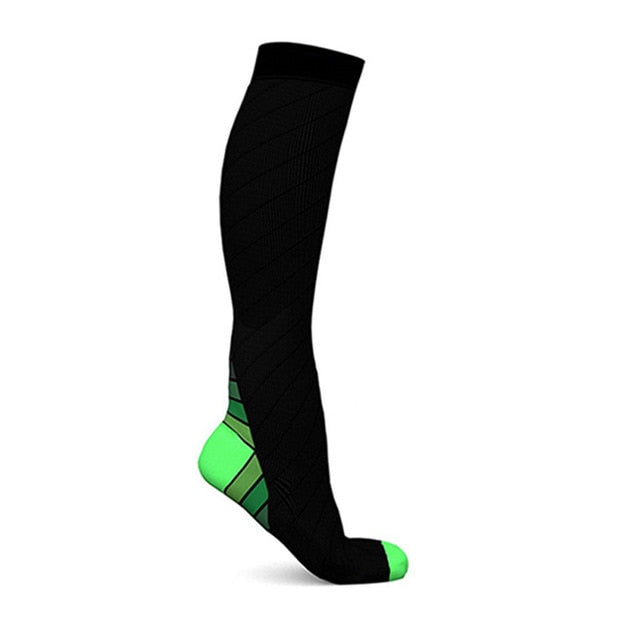 Compression Socks For Men & Women (20-30 mmhg) Best Stockings Running Fit Breathable Long Socks For Male Travel Boost Stamina