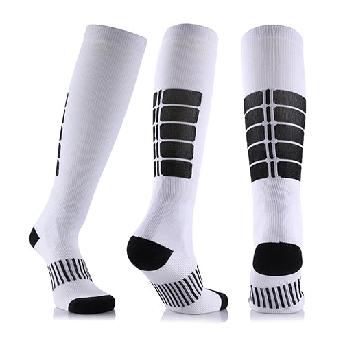 Fancyteck 1 Pair New Arrival Antifatigue Unisex Compression Socks Medical Varicose Veins Leg Relief Pain Knee High Stockings