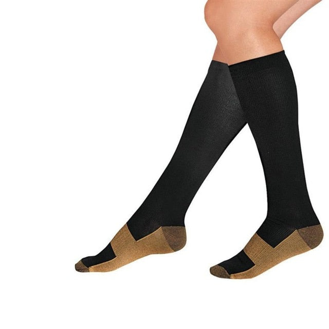 SKCOSOCKS Men's Black Compression Socks Professional Compression Running Socks High Quality Sports Socks For Male EU 40-47