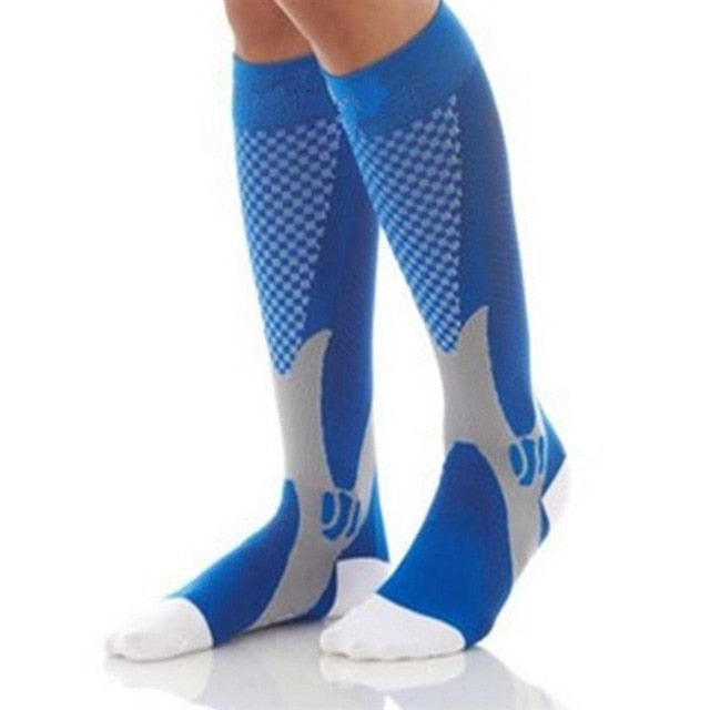 Men Women Compression Socks Fit For Sports Black Compression Socks For Anti Fatigue Pain Relief Knee High Stockings EU 39-47