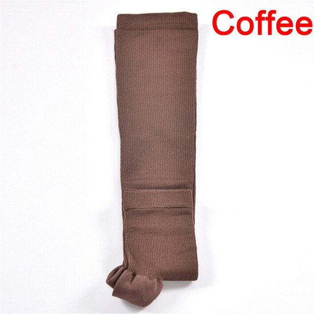 Compression Level Support Knee High Tip Open Varicose socks Medical Elastic Toeless Socks