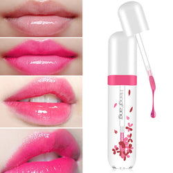 Transparent Flower Jelly Lip Gloss Tint Changes Color - Good For You Beauty