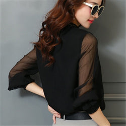 Chiffon Long Sleeve Blouse - Good For You Beauty