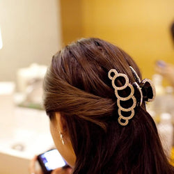 Circles Crystal Hair Clip - Good For You Beauty