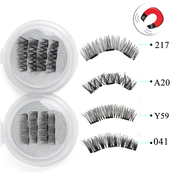 Triple Magnetic False Eyelashes Full Coverage Glue-free Lashes - Good For You Beauty