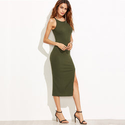 Bodycon Side Slit Dress - Good For You Beauty