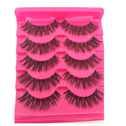 5 Pairs  Soft Natural Handmade Long Cross False Eye Lashes - Good For You Beauty