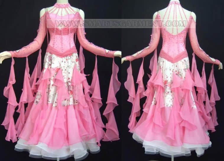 Inexpensive ballroom dancing clothes,personalized ballroom competition dance apparels,standard dance clothing