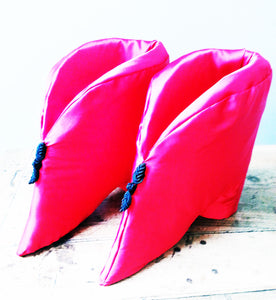 Red Silk Lotus Shoe