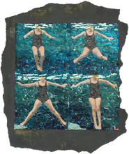 Load image into Gallery viewer, Fig.40. Treading water using breast stroke kick.